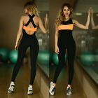 Sexy Womens Bodysuit Jumpsuit Active Wear Pants Sports/Training/Gym/Run/Yoga AU