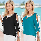 NEW Fashion Women's Loose Lace Long Sleeve Casual Shirt Tops T-Shirt Blouse CHIC