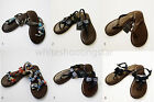 NWT ABERCROMBIE & FITCH A&F WOMENS LEATHER SANDALS FLIP FLOPS SZ: XS S M L