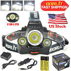 BORUiT 12000lm XML T6+2R2 395nm UV/Green/Red LED Hunting Headlamp 18650 Charger