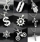 CHIC Fashion Women Men Pendant Necklace Chain Silver Stainless Steel New Jewelry