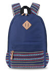 Fashion Women Vintage Canvas Messenger Laptop Backpack Travel School Hiking Bag