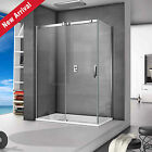 New Sliding Shower Enclosure Easy Clean Glass Door Cubicle Screen Stone Tray
