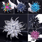 Fashion Alloy Lady Rhinestone Flower Wedding Bridal Bouquet Party Brooch Pin Hot