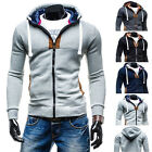 Fashion Mens Zip Jackets Coat Thick Hooded Outerwear Tops Hoodies Sweatshirts d