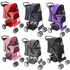 OxGord Pet Stroller Cat Dog 4 Wheeler Easy Walk Stroller Travel Folding Carrier