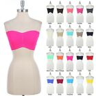 Sexy Seamless Wrinkled Plain Tube Tank Top Sports Bra ONE SIZE VARIOUS COLOR