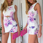New Women Ladies Clubwear Flora Playsuit Bodycon Party Jumpsuit Romper Trousers
