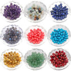 Natural Smooth Gemstone Round Loose Beads 4-12mm Assorted Stones Gem