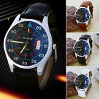 New Date Wrist Watches Women Men's Sport Military Quartz Leather Watch Strap MI