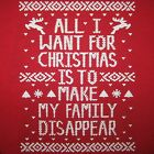 kids christmas family disappear funny t shirt ugly xmas sweater toddler youth