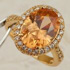 Size5 6 7 8 9 Gorgeous Citrine Orange Oval Jewelry Yellow Gold Filled Ring R2466