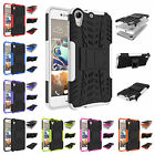 For HTC Desire 728 Heavy Duty Kickstand Plastic Rubber Rugged Armor Case Cover