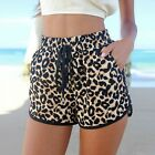 Hot Girls Lady Women's Leopard Print Middle Waist Shorts Pants TXCL