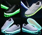 Women man LED Light Lace Up Luminous Shoes Sportswear Sneaker Casual Shoes TXCL