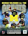 Michigan Wolverines 11 Time NCAA Football Champions Photo RO072 (Select Size)