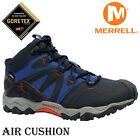 NEW MENS MERRELL AIR CUSHION GORE TEX OUTDOOR HIKING TRAIL WALKING TRAINERS SIZE