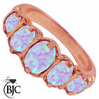BJC® 9ct Rose Gold Victorian / Gypsy Style Graduating Opal 5 Stone Ring