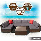 7pc Rattan Wicker Patio Set Sectional Sofa Furniture W/ Cushions Garden Outdoor