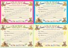 10 Personalised Baby Shower Game cards and Invitations - multiple options - BEAR