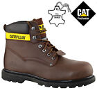 NEW MENS CATERPILLAR LEATHER SAFETY WORK BOOTS STEEL TOE CAP SHOES TRAINERS SIZE