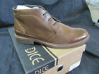 DICE Men's Leather Lace Up Ankle Boots ROBERTS In Size 10 or Size 11 Tan