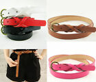 Fashion Candy Color Pu Leather Thin Skinny Waistband Belt For Women Girls 0.7L