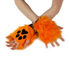 PAWSTAR Pawlets Furry Paw Cosplay Fingerless Gloves Arm Warmers Orange 3170