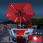 8.2ft t Solar LED Powered 40 LED Lights Outdoor Patio Umbrella with Til