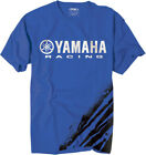 Factory Effex Licensed Yamaha Racing Flare T-Shirt Blue Mens All Sizes image