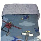 DISNEY AIRPLANE CRAZY Reversible BED COMFORTER - Vintage Planes Clouds Bedding
