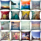 beautiful scenery Pattern Pillow Case Cotton Linen Sofa Cushion Cover Home Decor