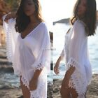 Sexy Womens Summer Lace Crochet Beach Dress Bikini Swimwear Cover Up Sarong Wrap