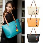 Women PU Leather Handbag Shoulder Bag Tote Purse Messenger Hobo Bags Black TXCL