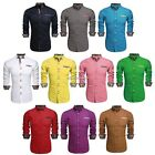 Loose Tops Formal Dress Shirts Button Down Long Sleeve Mens Slim Fit N4U8