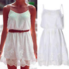 New Women Summer Casual Sleeveless Party Evening Cocktail Short Lace Dress TB