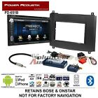 Power Acoustik Double Din DVD Bluetooth Radio Install Kit Harness