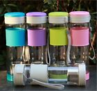 Portable Travel Cup Cycling Wide Mouth Water Bottle With Tea Infuser Mug 550ml