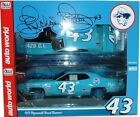 AUTO WORLD 1:18 SCALE DIECAST METAL RICHARD PETTY BLUE 1971 ROADRUNNER #43
