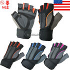 Mens Weight Lifting Gym Sport Fitness Workout Training Exercise Half Gloves New