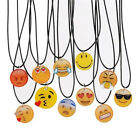 Fashion Charms Necklace EMOJI Emoticons Pendant String Chain For Women Girl