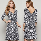 New Womens Casual Sleeve Evening Dress Cocktail Short Mini Office Lady Robes