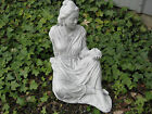 "QUAN YIN Goddess of Compassion & Mercy STATUE 14"" Outdoor Garden CEMENT 5 Colors"