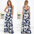 New Womens Sexy Floral Maxi Long Summer Beach Party Loose Dress