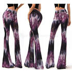 Women Flare Wide Leg Pants Boho Stretch Palazzo Bell Bottom Casual Long Trousers