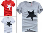 Fashion New Men's Slim Fit Short Sleeve Shirt Cotton Casual Stylish T-Shirt Tops