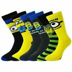 Mens Minions 5 pack Socks 6-8 and 9-12 Shoe Lovely Socks with different Minions