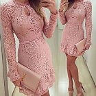 CHIC Womens Bodycon Cocktail Lace Dress Ladies Evening Party Dress