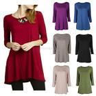 Fashion Womens Ladies Loose Long Sleeve Tunic Casual Blouse Shirt Tops T-shirt