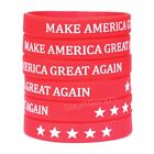 Set of Make America Great Again Wristbands - Trump Support Band Bracelet Lot